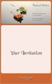 autumn-leaves-in-water-funeral-invitation
