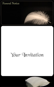 feather-sepia-funeral-invitation