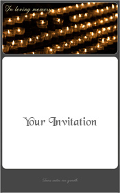 tea-lights-death-funeral-service-invitation