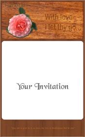 rose-on-wood-funeral-invitation